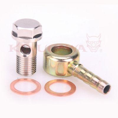 "Turbo Water Banjo Bolt Kit M14x1.5mm to 5//16/"" Barb 8mm 0.32/"""