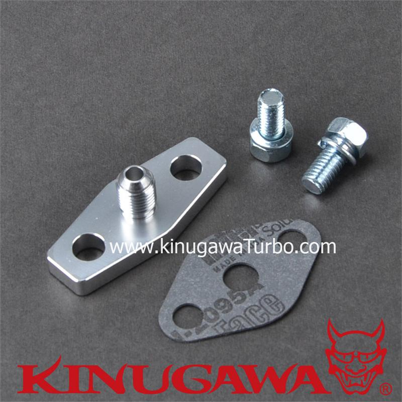 Billet CNC Aluminum Turbo Oil Feed Supply Flange 4 AN Restrictor T3 T4 T60 38MM