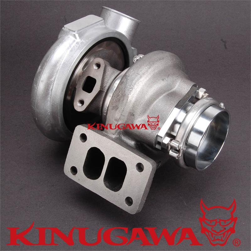 "Gt3576 Universal Performance Turbo Charger Journal Bearing: Kinugawa Turbocharger 4"" TE06H Billet 25G With T3 12 Cm"