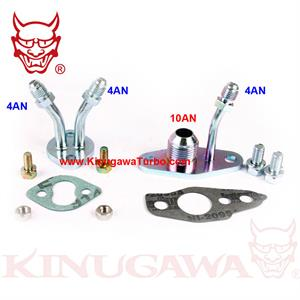 Turbo Oil Feed 4AN Drain 10AN /& Water Flange Kit For TOYOTA CT9 CT12 CT20 CT26